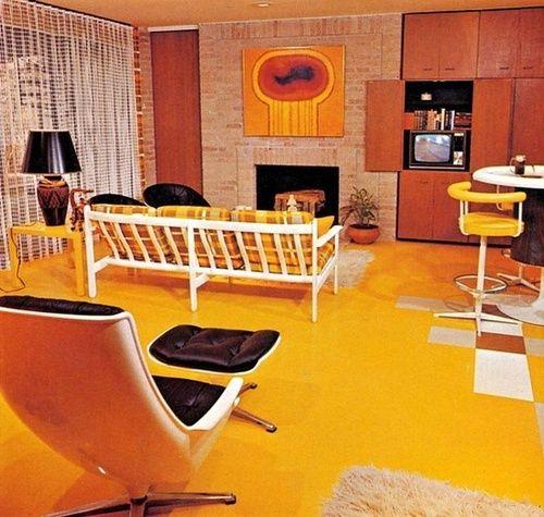 1970s living room design.