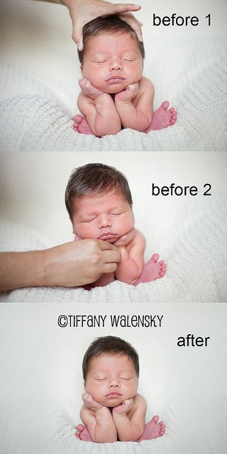 Tiffany Walensky Photography  (Newborn posing - before & after)