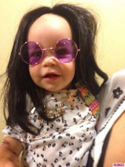 Jack Osbourne's baby girl Pearl (definitely takes after her grandpa)