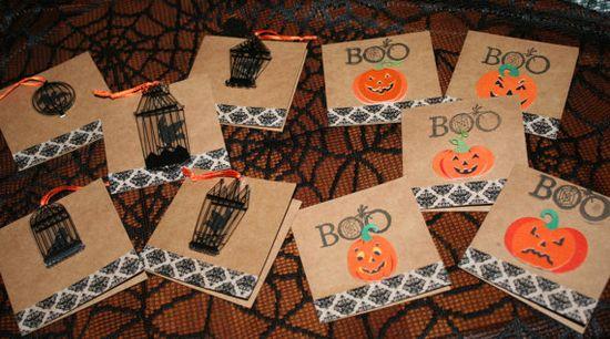 Handmade Halloween Cards Halloween Gift Tags Halloween by TRIZIART, $4.75