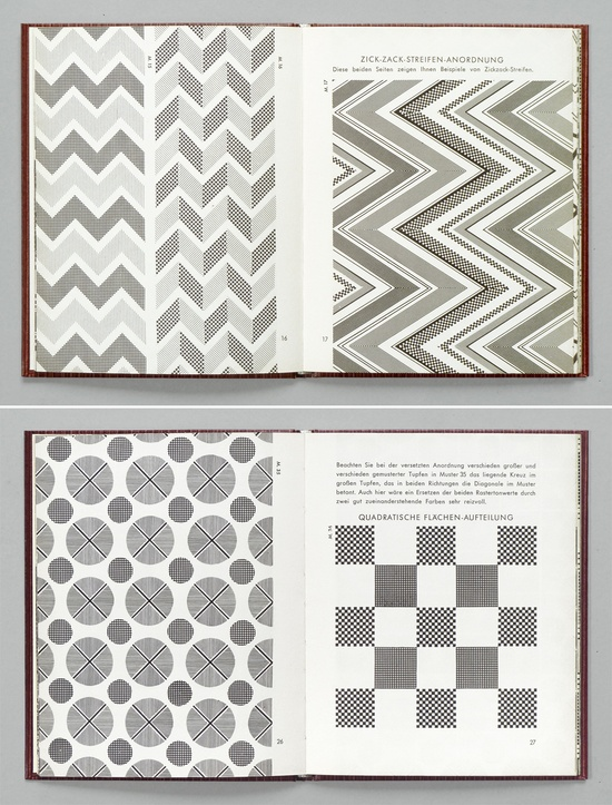 Geometric patterns... in a book.