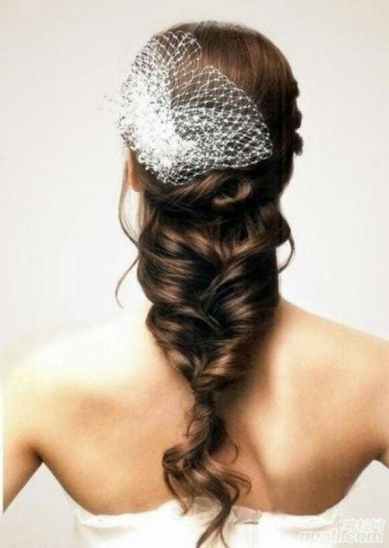 Wedding braid hair
