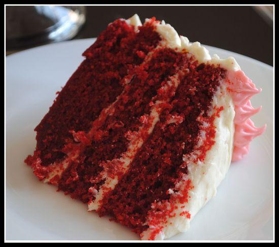 Red Velvet Cake with Cream Cheese Frosting by preventionrd #Cake #Red_Velvet