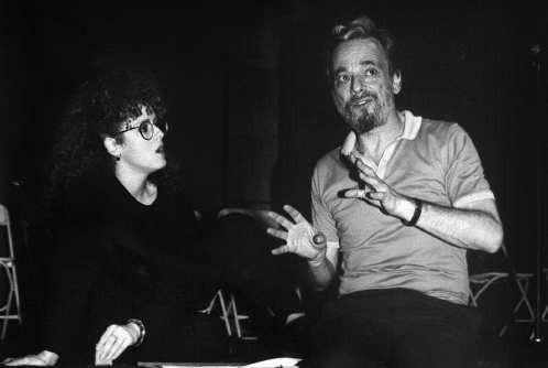 Bernadette Peters and Stephen Sondheim