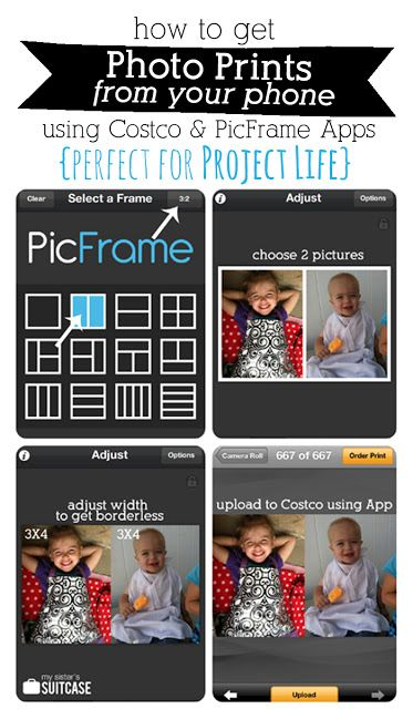Get your instagram pictures off your phone and into your albums! (All without getting on the computer!) Perfect for Project Life. sisterssuitcasebl... #instagram #projectlife #photo