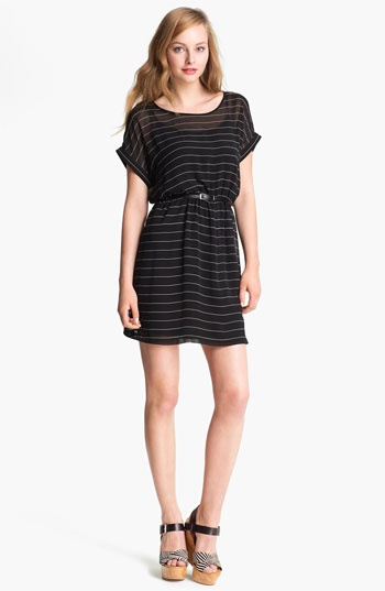 Kensie Belted Stripe Dress available at Nordstrom