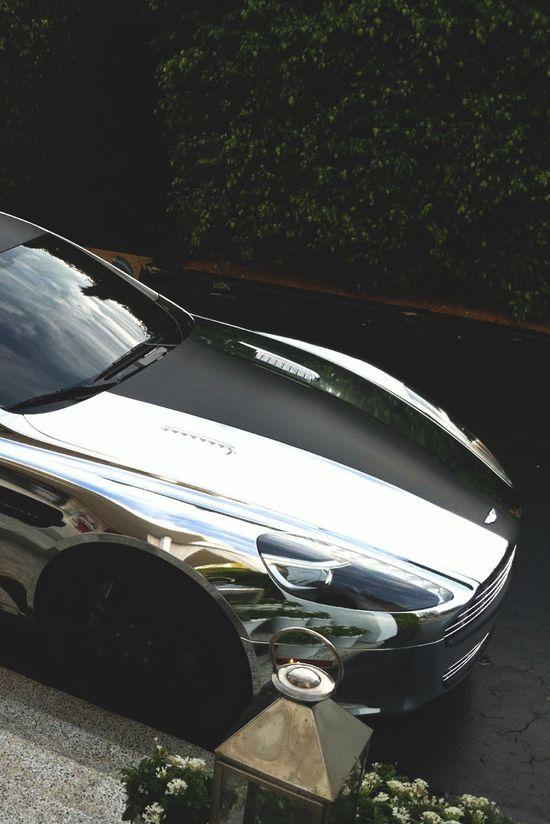 Stunning Chrome Aston Martin via carhoots.com