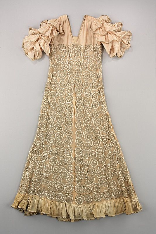 Dress, Evening  House of Lanvin  (French, founded 1889)    Designer:      Jeanne Lanvin (French, 1867–1946)  Date:      ca. 1935