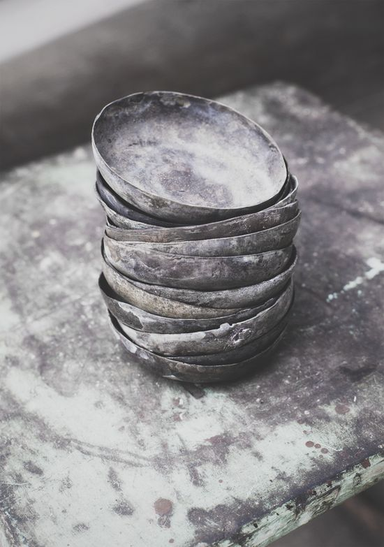 Old handmade mini bowls.