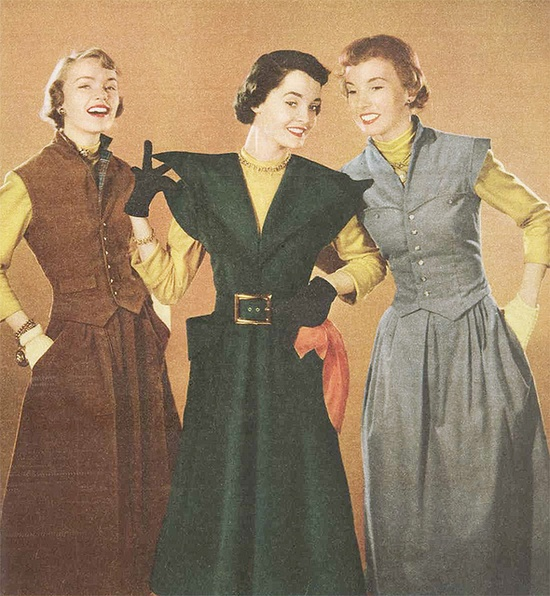 The Australian Women's Weekly, 9 June 1951 - love the vests! #vintage #1950s #aututmn #fashion