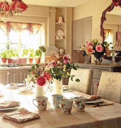 romantic kitchen interior