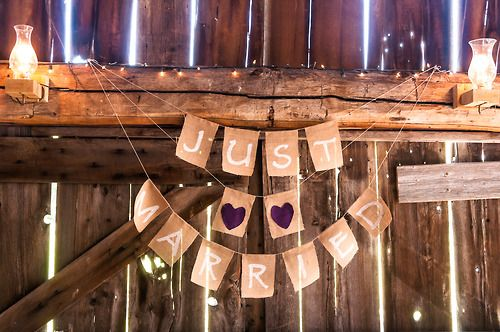 DIY decor ideas for a rustic country wedding.