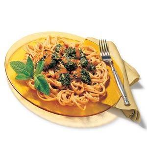 Thai Chicken Pasta -  Print this recipe at AmericanFamily.com.