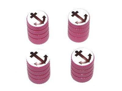 Anchor Boat - Tire Rim Valve Stem Caps - Pink Car Accessories