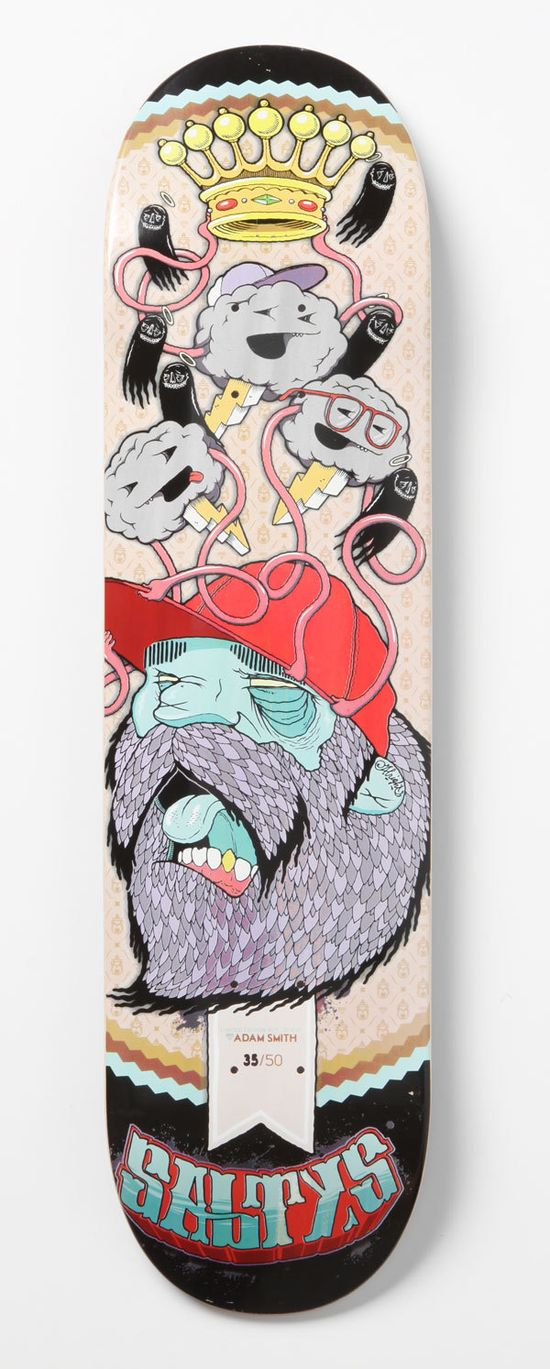 Salty's Skate Deck by Adam Smith, via Behance