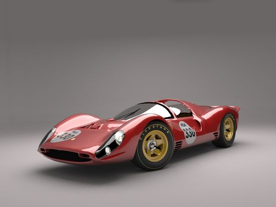 1967 Ferrari 330 P4. The 330 P4 is quite simply one of the greatest sports racing prototypes ever designed by Ferrari. Beginning in 1962, Ferrari won the prototype class of the world sports car championship for five of the first six years, running through 1967. The cars carrying the Cavallino Rampante were obviously the ones to beat! Estimated 480 bhp at 8,500 rpm, 4,176 cc