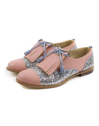 pink and glitter oxfords