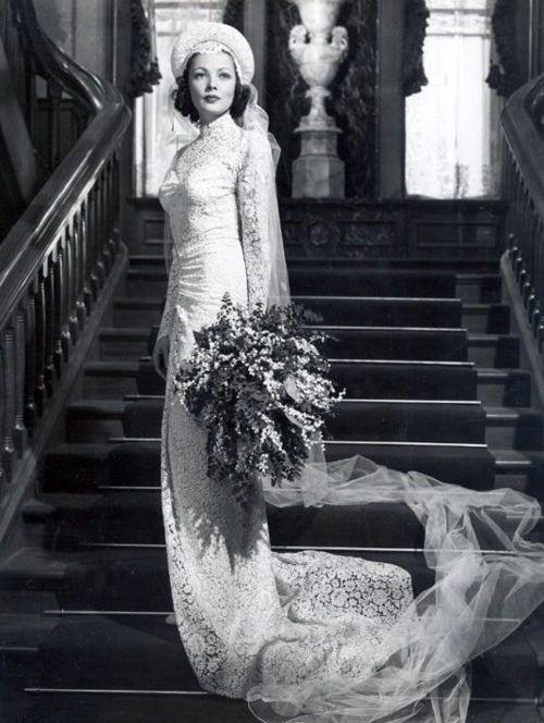 Wedding dress #vintage