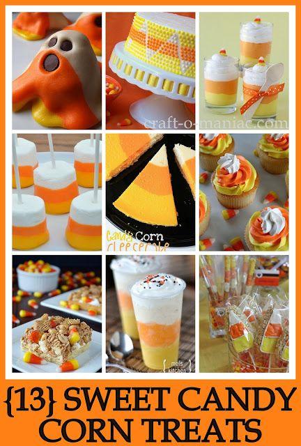 13 Candy Corn Treats #halloween #candycorntreats #halloweenparty