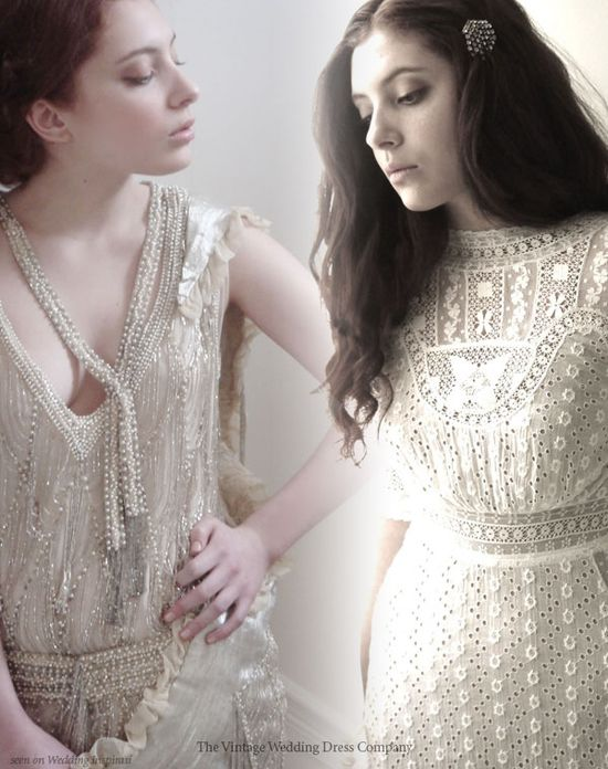 Image detail for -Original vintage wedding dresses - 1920s beaded gown and 1900s eyelet ...