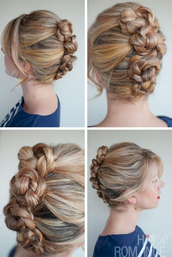 Hair Romance - 30 braids 30 days - 13 - French twist & pin braids- awesome!