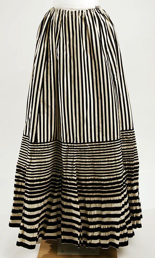Late 19th century, French silk petticoat.