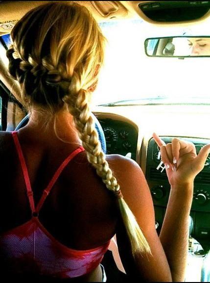 summer braided hair