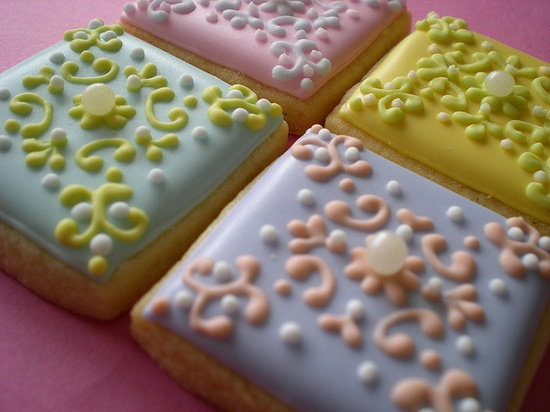 iced decorated cookies by rosey sugar