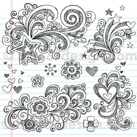 Sketchy Notebook Doodles by blue67design by blue67design, via Flickr