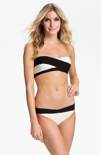 Black & White Bandage Two-Piece Bikini / Herve Leger