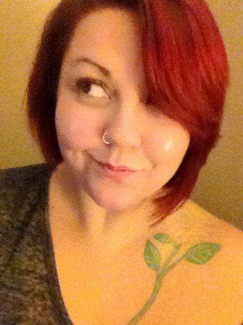 Asymmetrical red hair style ????