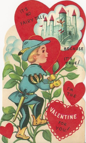 Vintage Valentines Day card.
