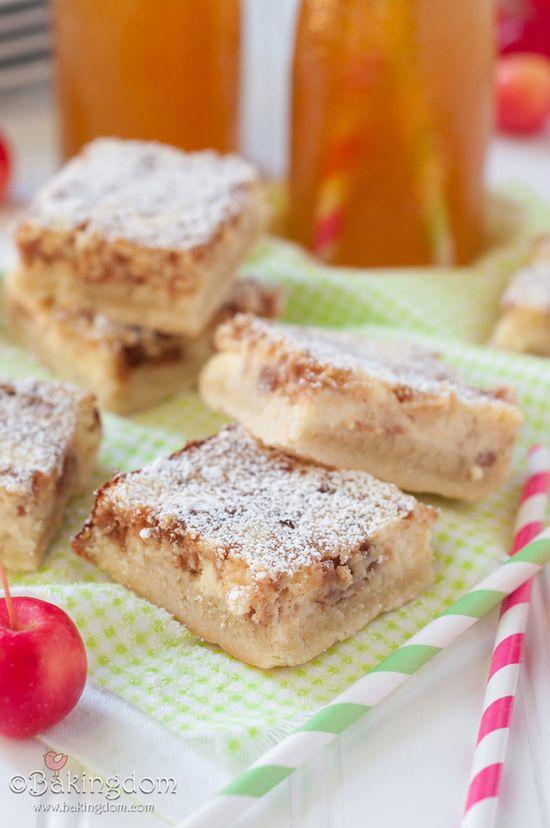 Apple Cider Cheesecake Bars