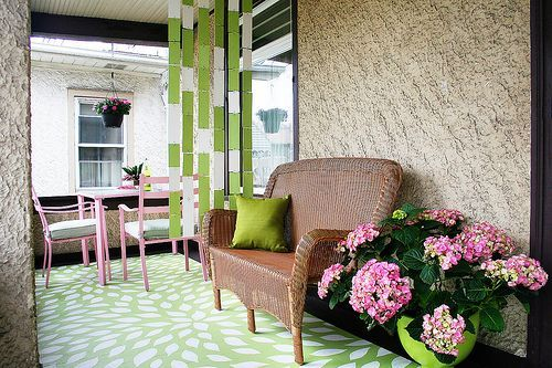 A Pretty Porch ~ Click this Link makingitlovely.co... to See an Inspiring Home Decorating Before and After House