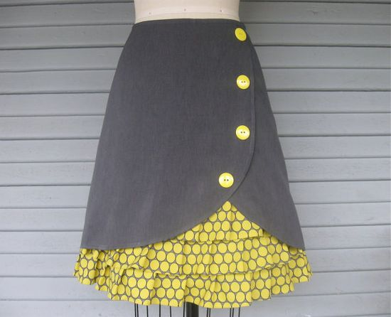 Lemondrop ruffle front skirt Sz 12 by LoveToLoveYou on Etsy, $74.00 LOVE THIS !!!