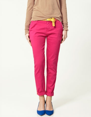 Got to love skinny trousers in neon brights