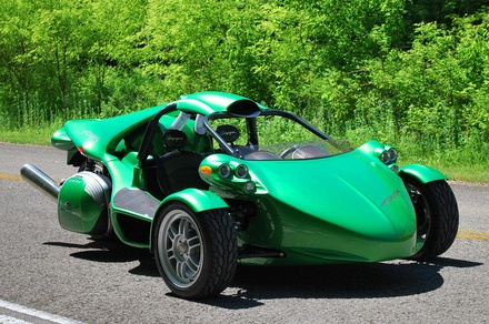 The three-wheeler T-Rex is car named after a dinosaur. The heart of this extraordinary vehicle is a  1.4L I4 engine that delivers 197 HP.