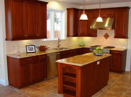 Shaped Small Kitchens Interior Design Ideas - Kitchen
