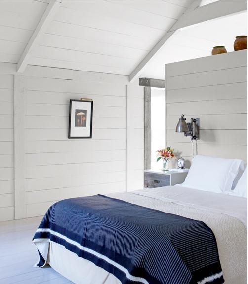 White wood walls