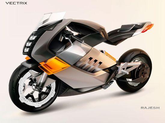 Futuristic motorbike concept