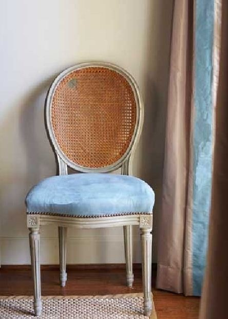 Blue chair  shabby chic rustic French country decor idea