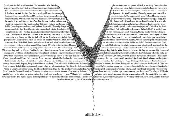 #Typography in black and white
