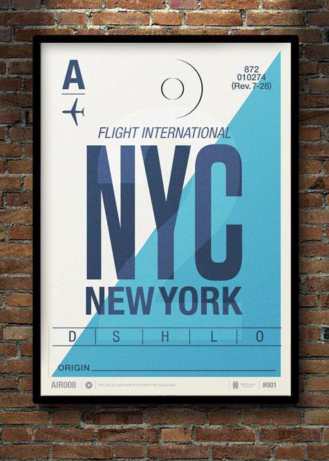 Flight Tag Prints // Neil Stevens, via Behance