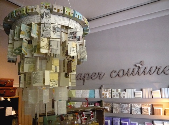 I am thinking a grand dated chandelier for summer Paper chandelier - Sydney Paper Couture