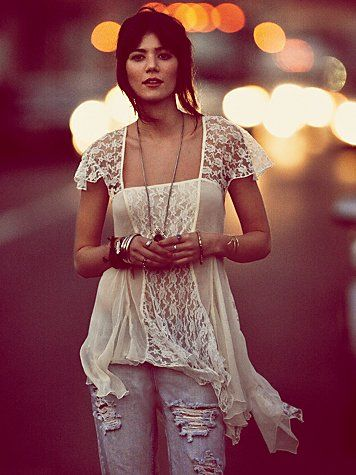 Flowy Lace Top from Free People. Love it!