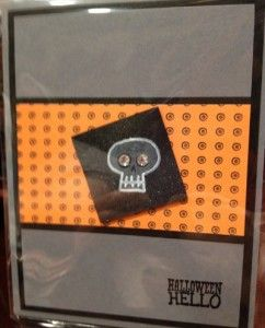 Handmade Halloween card using the Halloween Hello stamp set from Stampin' Up!