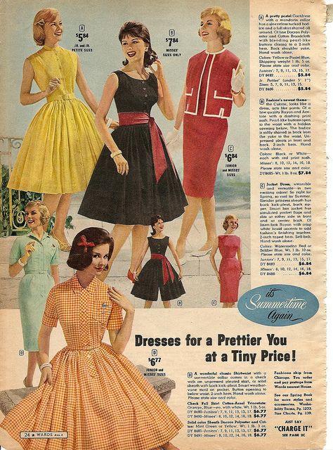 Punchy hues and fun, girly cuts - so pretty! #1960s #vintage #fashion #dress #retro #clothing