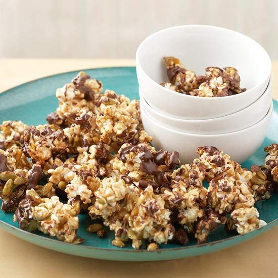 Aztec Chocolate Popcorn, anyone? See more potluck recipes: www.bhg.com/...