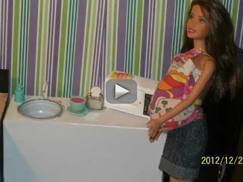 tour of my handmade  barbie house - this is the set of the