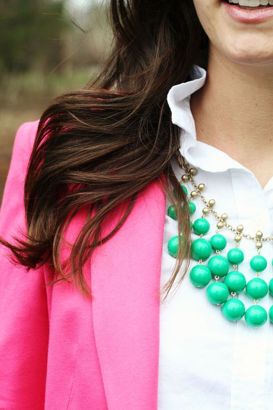 spring green & hot pink